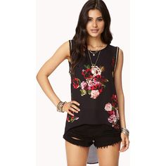 FOREVER 21 Pixelated Garden High-Low Top ($18)