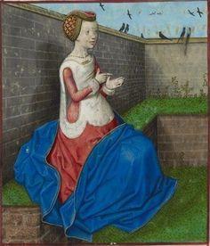 Image from : Roman de la Rose. by Guillaume de Lorris and Jean de Meun. Netherlands, S. (Bruges) Date c. 1490-c. 1500. Harley 4425 f.160v. (c)The British Library Board.