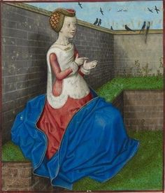 Image from : Roman de la Rose. by Guillaume de Lorris and Jean de Meun. Netherlands, S. (Bruges) Date c. 1490-c. 1500. Harley 4425 f.160v. (c)The British Library Board.