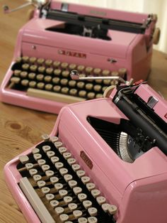 I want this: a) because I write; b) because it's pink; and c) because I'm sentimental: my grandfather, great grandparents, and several other family members worked at the Royal Typewriter factory in Hartford, CT