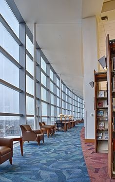 Indianapolis Public Library. I could read here - and enjoy the vista.