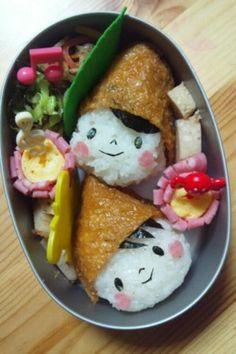 Inarizuhi (Deep-Fried Tofu Porch Sushi) Kids Kyaraben Bento Lunch