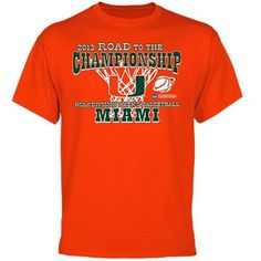 Miami Hurricanes 2013 NCAA Men's Basketball Road to March Madness T-Shirt - Orange