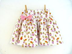 Briar Rose Knit Strawberry Skirt by Bobbins Boutique