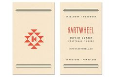 Business card - nice simple pattern & info