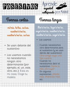 posesivos español