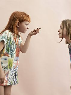 Wildkids for La Petite Magazine, photography by Marijke de Gruyter styling & creative direction by Jet Vervest, hair and make-up by Ingrid Boekel @Houseoforange,  Loula: Sealife T-shirt The future is ours, Anna in Molo monkey shirt