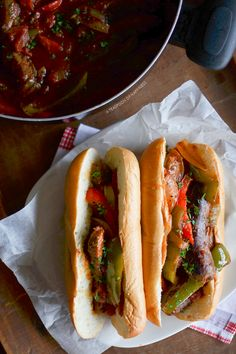 Italian Sausage and Pepper Sandwiches   A Teaspoon of Happiness
