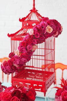 A Journey Down The Modern Silk Road - WedLuxe Magazine Chinese Wedding Decor, Oriental Wedding, Chinese New Year Decorations, New Years Decorations, Wedding Centerpieces, Wedding Decorations, Wedding Ideas, Wedding Inspiration, Modern Asian