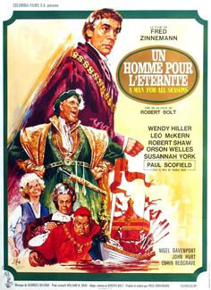 A Man for All Seasons is the filmed version of the life of Thomas More. An English man comes to Sir Thomas More to ask if he can divorce his wife. Mind Blowing Movies, Enrique Viii, Columbia, Fred Zinnemann, Susannah York, Oscar Movies, Leo, Seasons Posters, Posters