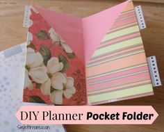 Smile for no reason: How To Make Your Own Planner Pocket Folders