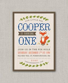 Hey, I found this really awesome Etsy listing at http://www.etsy.com/listing/167203358/mr-fox-birthday-invitation