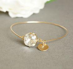 Bracelets For Ladies: Personalized Bangle Bracelet, Gold Bangle, Modern Custom Initial Bangle, Opal Sw. Gold Bangle Bracelet, Gold Bangles, Diamond Bracelets, Silver Bracelets, Unique Bracelets, Jewelry Bracelets, Pandora Bracelets, Custom Jewelry, Swarovski