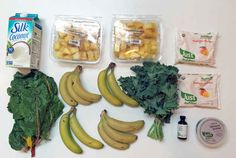 Start by gathering all of the ingredients you'll need to a make a week's worth of smoothies.
