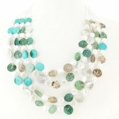 Metallic Mermaid - Teal shell necklace – Jc & Crew Shell Necklaces, Shells, Mermaid, Metallic, Teal, Amp, Clothes For Women, Accessories, Jewelry