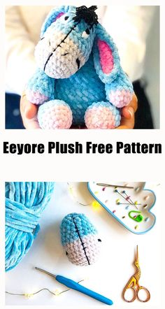 Crochet Gratis, Free Crochet, Knit Crochet, Eeyore, I Am Happy, Free Pattern, Coin Purse, Crochet Patterns, Plush