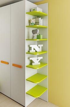 #Arredamento #Cameretta Moretti Compact: Catalogo Start Solutions 2013 >> LH36 #armadio #mensole http://www.moretticompact.it/start.htm