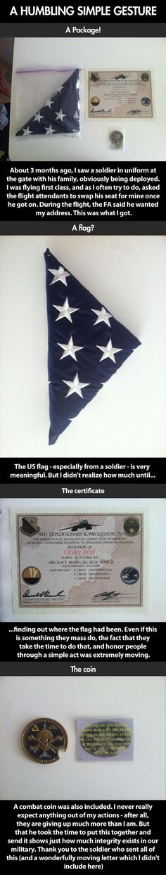 Amazing gift from a soldier…
