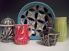 Sgraffito 2014 Tootsie Bowl Pottery by Linda Ellard-Brown