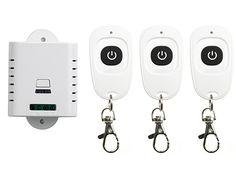 AC85V 110V 120V 220V 250V 1CH Wireless Remote Control Switch System Receiver & 3pcs one-button waterproof Remote 315mhz/433mhz #Affiliate