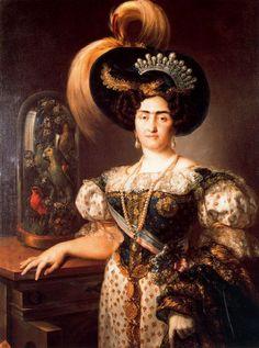 Infanta Maria Francisca of Portugal (1800-1834), wife of Infante Carlos Maria Isidro of Spain, and daughter of King John VI of Portugal and Carlota Joaquina of Spain.
