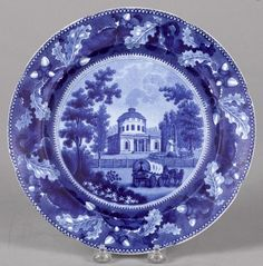 Pook & Pook 4/29/17. Lot 259. Estimated: $300 - $500. Realized: $375.  Description: Historical blue Staffordshire Water Works Philadelphia plate, 10 1/8'' dia.  Condition: Very good condition. Marked R.S.W. Provenance: The Historical Blue Collection of Kenton Broyles.