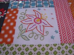 Embroidery in the middle.