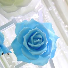 Artificial Foam Background Large Flower Cream or blue wedding decoration fake flower by sophieliu2 on Etsy