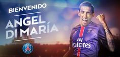 ANGEL DI MARIA MOVES FROM MANCHESTER UNITED FC, TO PARIS SAINT-GERMAIN. Signing a 4 year contract (until 2019) #PSG #MUFC