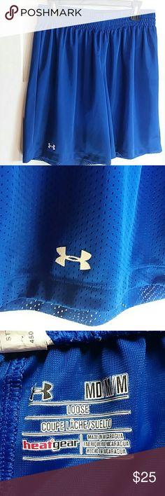Under Armour shorts Royal blue Under Armour heat gear mesh shorts. Excellent condition. Men's Medium. Under Armour Shorts Athletic