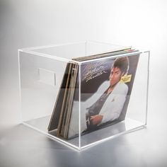 Vinilio perspex record storage box for vinyl