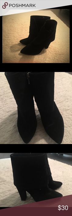 b79351d7c1a0 Vince Camuto Black Suede Flap Boot Beautiful Suede Vince Camuto Booties-  like New with covered. Shoes ...
