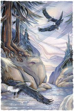 Bergsma Gallery Press :: Paintings :: Nature :: Northwest :: Hidden Spirit - Prints