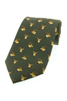 Sax Stag Head Tie - Ties & Cufflinks - Accessories - Brocklehursts