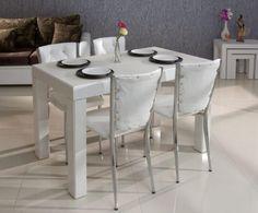 Beyaz Mutfak Masası Modelleri