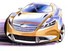 Exclusive: Interview with Lincoln Design Manager Andrea di Buduo Car Design Sketch, Car Sketch, Fusion Design, Motorcycle Design, Ford Fusion, Transportation Design, Latest Pics, Exterior Design, Lincoln
