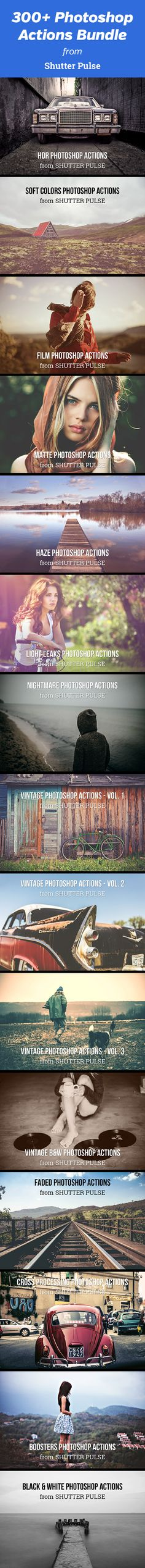 Transform Your Photography with Professional Photoshop Actions - get this set of more than 300 high-quality Photoshop actions from ShutterPulse.com