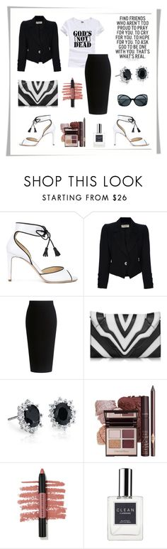 """God's Not Dead"" by rboowybe ❤ liked on Polyvore featuring Chloe Gosselin, Yves Saint Laurent, Theory, Elena Ghisellini, Blue Nile, Marc Jacobs, CLEAN, Bottega Veneta and contestentry"
