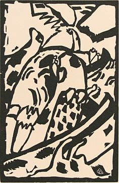 Wassily Kandinsky (Russian, 1866-1944). Improvisation. Original woodcut for artist book Klange, 1911. This impression on cream wove paper for XXème Siècle, 1966. Printed with the permission of Kandinsky's widow. Monogram in the block. Edition c. 3000. Reference: Roethel 124. 7-1/2 x 5 inches. 29987c $475