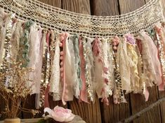 Shabby Boho Chic Blush Pink GOLD Birthday Banner Nursery Valance Crochet Lace Sparkle Sequin Garland Curtain Crib Garland Window Treatment - Home Dekor Shabby Chic Garland, Decoration Shabby, Shabby Chic Fabric, Shabby Chic Banners, Shabby Chic Art, Shabby Chic Crafts, Shabby Chic Baby Shower, Boho Decor, Decorations
