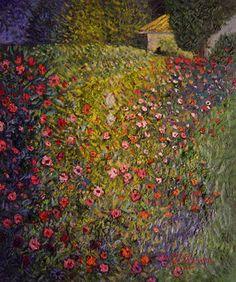 Gustav Klimt Landscapes   Gustav Klimt's Italian Garden Landscape illuminates the room #LandscapeArtists