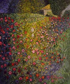 klimt flower paintings | ... show famous artists klimt paintings klimt italian garden landscape