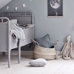 So much dreaminess for this nordic nursery by @emsloo  the large belly basket is a wonderful addition in any playspace or nursery for the little ones. We have a limited number left for our large size, so hop online @amonochromist if you are after one for yourself.