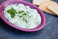 Raw Vegan Tzatziki Made With Fresh Herbs, Nut-free & Oil-free Vegan Sauces, Raw Vegan Recipes, Vegan Foods, Veggie Recipes, Cooking Recipes, Healthy Recipes, Vegan Options, Vegan Tzatziki, Dips