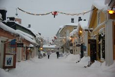 Christmas in Porvoo, Finland.