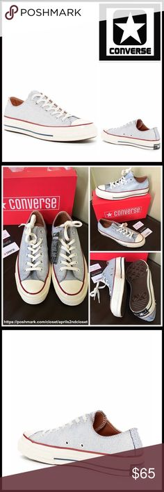 CONVERSE CANVAS SNEAKERS Stylish CONVERSE SNEAKERS Stylish Oxford Sneakers   SIZING- Unisex, women's sizes are shown  COLOR- Bone, white, black stripe   ABOUT THIS ITEM  * Rubber cap toe  * Lace-up closure  * Logo detail  * Black stripe outsole accent  * Topstitch seaming & lightly padded footbed   MATERIAL Canvas upper & linining, rubber sole   ❌NO TRADES❌ ✅BUNDLE DISCOUNTS✅  OFFERS CONSIDERED (Via the offer button only) ITEM# C95800  SEARCH WORDS # all star Chuck Taylor wedge non Hi tops…