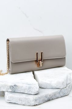 bf5f95099a3d37 Luxurious Taupe Clutch Bag - Simple Faux Leather Clutch - Purse -  36 – Red  Dress