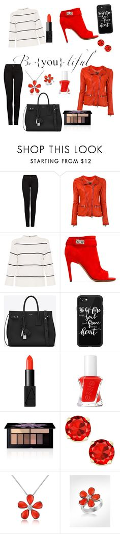 """""""I realy don't know"""" by antonia-johanna ❤ liked on Polyvore featuring J Brand, Giorgio Brato, L.K.Bennett, Givenchy, Yves Saint Laurent, Casetify, NARS Cosmetics, Essie, Smashbox and Del Gatto"""