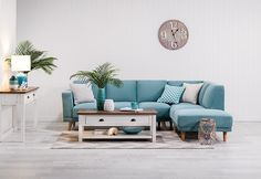 Tobin Fabric 3 Seater Sofa with Chaise | Super A-Mart