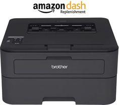 Brother HL-L2340DW Compact Laser Printer, Monochrome, Wireless, Duplex Printing, Amazon Dash Replenishment Enabled